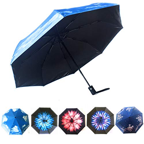 Sun Umbrella UV Protection by Hawaiian Sunsets | Use together with Sun Protection Clothing Women for Maximum UPF50 Sun Protection | Parasol Umbrella UV Protection Available in Beautiful Designs!
