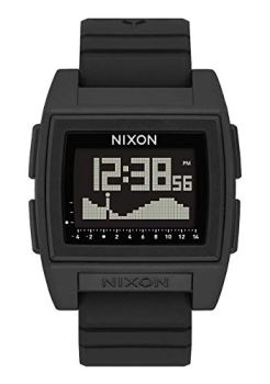 NIXON Base Tide Pro A1212 - Black - 100m Water Resistant Men's Digital Surf Watch (42mm Watch Face, 24mm Pu/Rubber/Silicone Band)