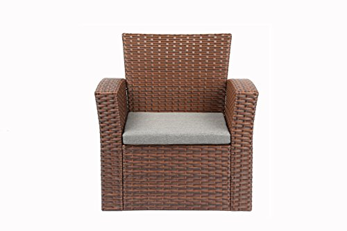 Baner garden n87 4 pieces outdoor furniture complete patio wicker rattan garden set full - Must have pieces for your patio furniture ...