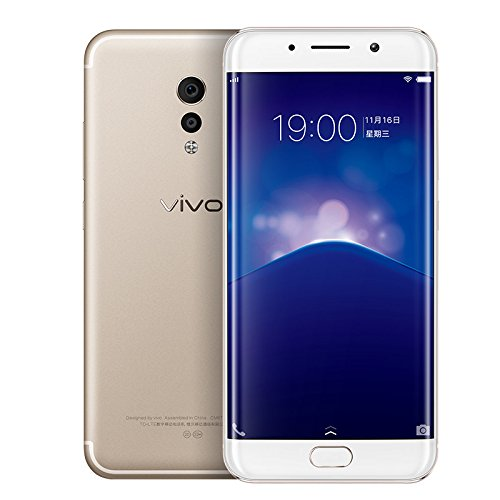3D Curvy AMOLED Vivo Xplay 6 Xplay6 Mobile Phone 4G LTE Android 6.0 Snapdragon 820 6G+64/128 2K Screen Professional Camera Phone (Gold)