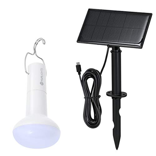 Portable Solar Powered LED Light Bulb Outdoor with Solar Panel Rechargeable LED Emergency Lamp 2200mAh for Hiking Fishing Camping Tent