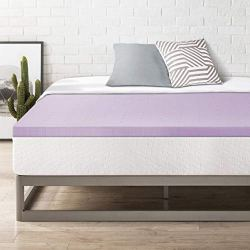 Best Price Mattress Topper Twin, 2″ Memory Foam Mattress Topper with Lavender Certipur-US Certified Cooling, Twin Size