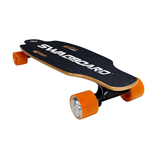 SWAGTRON SwagBoard NG-1 Electric Longboard – UL 2272 Certified Motorized Electric Skateboard with Wireless LED Remote