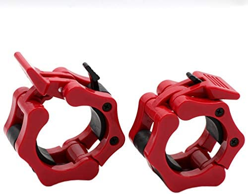 """Greententljs Olympic Barbell Clamps 2 inch Quick Release Pair of Locking 2"""" Pro Olympic Weight Bar Plate Locks Collar Clips for Workout Weightlifting Fitness Training 4"""