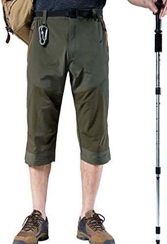 Vcansion Men's Outdoor Quick Dry Hiking Cargo Capri Shorts Summer 3/4 Pants 2