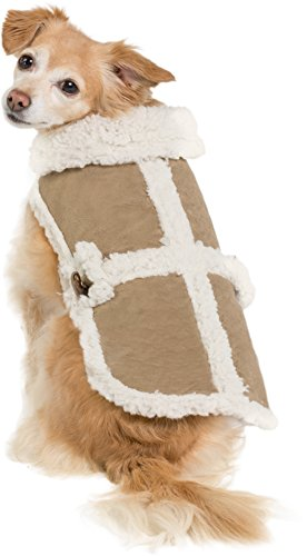Friends Forever Sherpa and Quilted Winter Vest for Small to Medium Size Dogs Only, Coat Sweater Hoodie Outwear Apparel 1