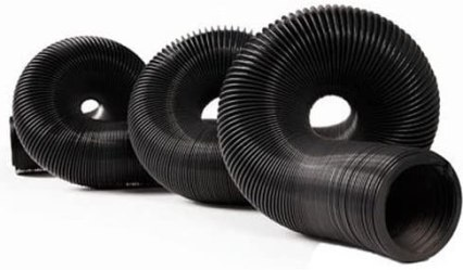 Camco 39611 39611 Durable High Tensile Strength Sewer Steel Wire Core, 20' Hose with 12 mils of HTS Vinyl, Black