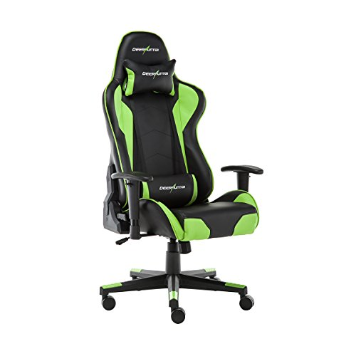 DEERHUNTER Gaming Chair, Swivel Leather Office Chair, High Back Ergonomic Racing Chair, Adjustable Computer Desk Chair with Lumbar Support and Headrest (Green)