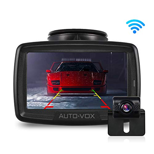 W2 NO Interference Digital Wireless Backup Camera System Kit with Built-in Transmitter, IP68 Waterproof Wireless Rear View Camera and 4.3'LCD Wireless Reversing Monitor for Trailer, RV, Bus, Trucks