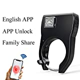 HFSECURITY Bike Lock Bluetooth Smart Lock Anti Theft Alarm Keyless Phone APP Control Waterproof Bicycle Lock