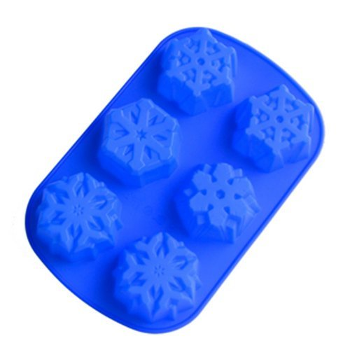 6 Even Snowflakes Silicone Cake Mold