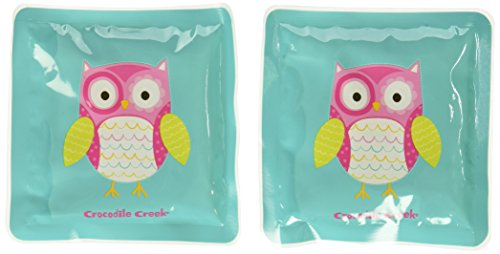 Crocodile Creek Girls Eco Reusable Owl Ice Packs for Lunch Boxes (Set of 2), Teal, 5'