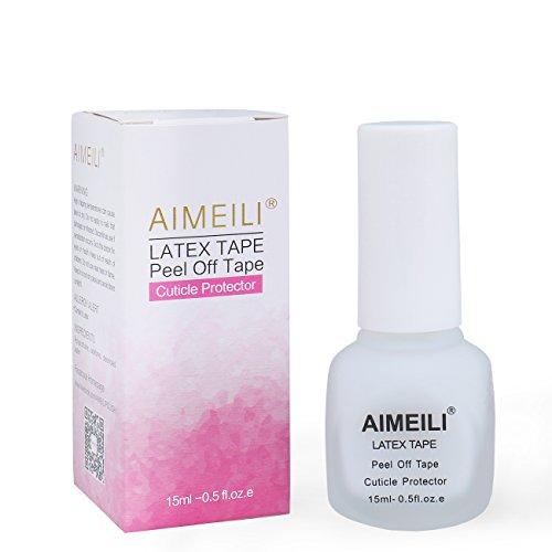 AIMEILI Liquid Latex Peel Off Tape Cuticle Guard Skin Protector for Nail Art White