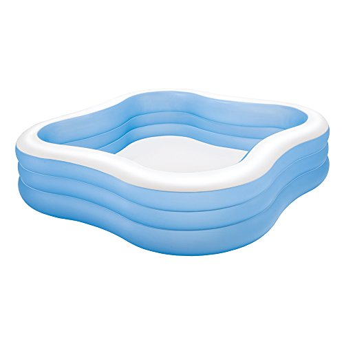 "Intex Swim Center Family Inflatable Pool, 90"" X 90"" X 22"", for Ages 6+, Color may vary"