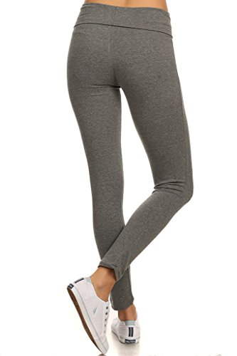 Fold over skinny leg yoga pants