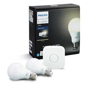 Philips Hue White A19 60W Equivalent Dimmable LED Smart Bulb Starter Kit (2 A19 60W White Bulbs and 1 Hub Compatible… 15