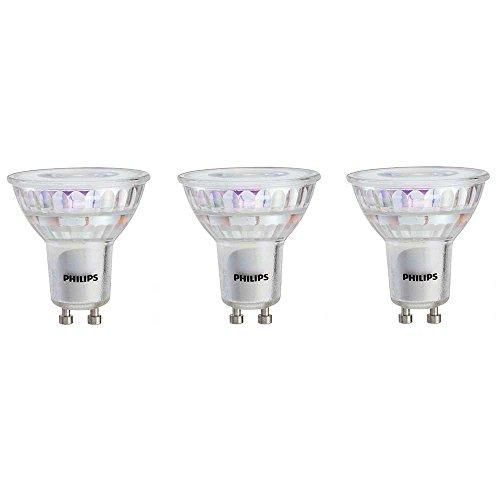 Philips 465054 LED GU10 Dimmable 35-Degree Flood Light Bulb: 400-Lumen, 3000-Kelvin, 6-Watt (50-Watt Equivalent), 3-Pack