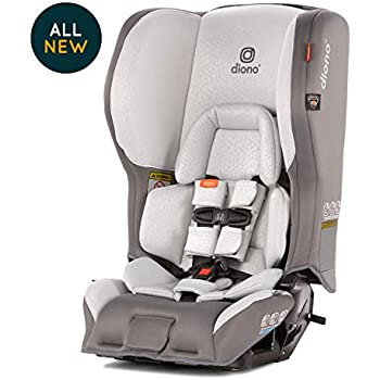 Diono Rainier 2AX Convertible Car Seat – Extended Rear-Facing 5-50 Pounds, Forward-Facing to 65 Pounds - Ultimate Luxury, All Star Safety, Dark Grey