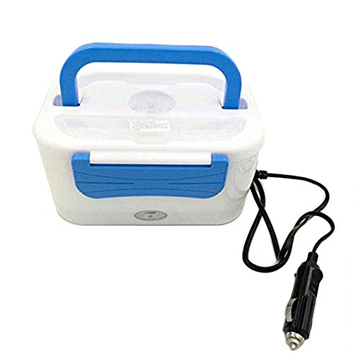 Wang-Data Portable 12V Car Use Electric Heating Lunch Box Bento Meal Heater Food Warmer 45W Blue