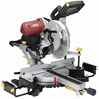 12 Inch Double Bevel Sliding Compound Miter Saw With Laser Guide 15 Amp Comes Dust Bag Machined Aluminum Fence Extension Bars Table Clamp