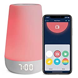The sleep device that does it all, Hatch Rest+ is a baby sound machine, night light, time-to-rise, and audio monitor -- all in one. It's a sound machine: Select from a library of sounds, including lullabies and white noise. It's a night light: Choose...