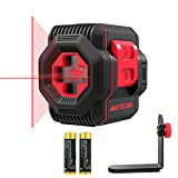 Laser Level, Meterk Cross Line Laser with Measuring Range 50ft, Switchable Self-Leveling Vertical and Horizontal Line, Rotatable 360 Degree with Flexible Magnetic Base, Battery Included