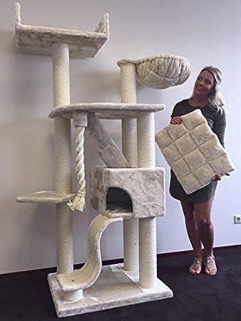 Kratzbaum Grosse Katzen Stabil Xxl Kilimandjaro De Luxe Beige Katzenkratzbaum Für Maine Coon Große Katzenbaum Schwere Katze Kletterbaum Kratzmöbel