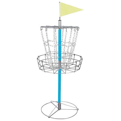 Yaheetech Portable Disc Golf Basket - Lightweight Double Chains Portable Practice Target Steel Frisbee Hole Disc Golf Goals Catcher