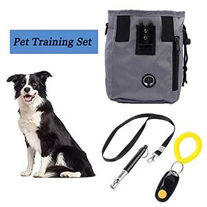 PROPLUMS Dog Training Set 3Pcs Include Dog Ultrasonic Whistle Training Clicker and Treat Pouch Gift for New Pets Owner