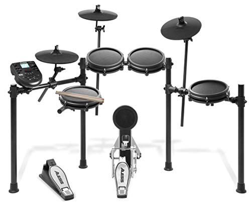 Alesis Nitro Mesh Kit | Electronic Drum Set with 8' Snare, 8' Toms, and 10' Cymbals