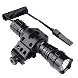 Feyachi FL11 Tactical Flashlight 1200 Lumen LED Light with Picatinny Rail Mount for AR15 Outdoor Hunting Shooting, Rechargeable Batteries and Remote Switch Included