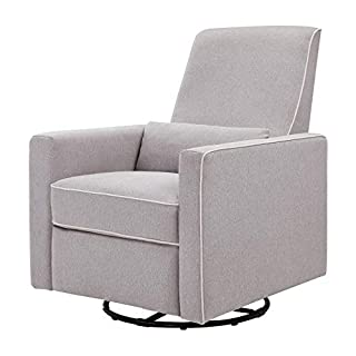 Crafted with new parents' and nursing mothers' needs in mind, the Piper Recliner and Glider features 360 swivel motion, forward and backward gliding function and a plush pop-up leg rest to provide comfort for feeding and putting baby to rest. Its rec...