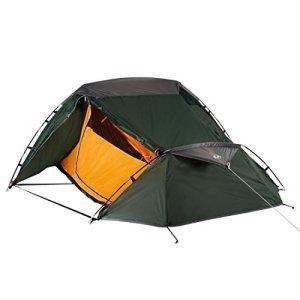 Ultrasport Tienda de campaña Adecuada para Festivales, Camping y Trekking, se Entrega con Bolsa de Transporte, protección UV y mosquiteros, Columna de Agua hasta 1000mm, 2,33x1,88x1,00 m 1