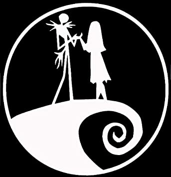 Legacy Innovations Jack And Sally Nightmare Before Christmas White Decal Vinyl Sticker Cars Trucks Vans Walls Laptop White 5 5 X 5 5 In Lli615 Amazon Ca Home Kitchen