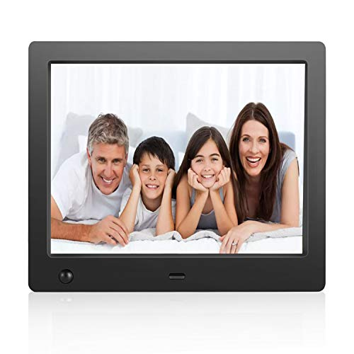 Digital Picture Frame 8 inch Electronic Digital Photo Frame with High Resolution 1024x768 IPS LCD and Motion Sensor/1080P 720P Video Player/Calendar/Time/Remote Control/Best for Gift or Present