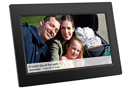 Feelcare 10 Inch Smart WiFi Digital Photo Frame with Touch Screen, IPS LCD Panel, Built in 8GB Memory, Wall-Mountable, Portrait&Landscape, Instantly Sharing Moments(Black)