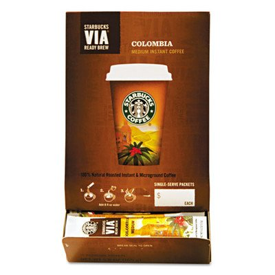 Starbucks SBK11008131 Colombian VIA Ready Instant Single Serving Brew (Pack of 50)