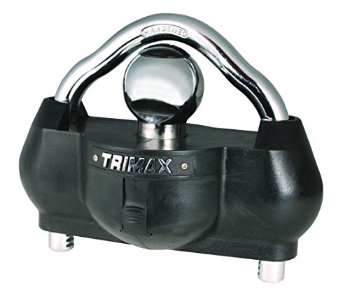 Trimax UMAX100 Premium Universal 'Solid Hardened Steel' Trailer Lock (fits all couplers)