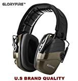GLORYFIRE Electronic Shooting Earmuff Sound Amplification 6 Times Electric Earmuffs Perfect for Hunting and Shooting