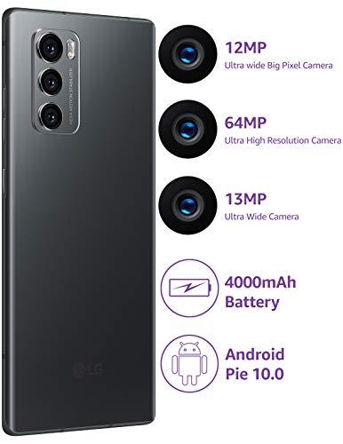 41H155ixeHL - LG Wing with Swivel Mode (Aurora Gray, 8GB RAM, 128GB Storage)