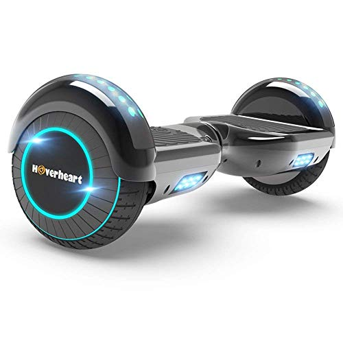 Hoverboard Two-Wheel Self Balancing Electric Scooter UL 2272 Certified, Metallic Chrome with Wireless Speaker and LED Light (Chrome Titanium)