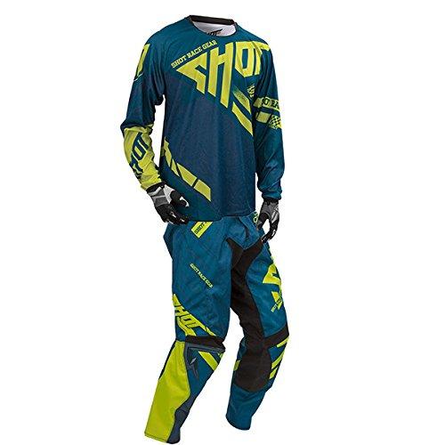 Shot Race Gear - Contact Raceway Navy & Lime Jersey/Pant Combo - Size X-LARGE/ 36W