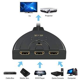 HDMI-SwitchGANA-3-Port-4K-HDMI-Switch-3x1-Switch-Splitter-with-Pigtail-Cable-Supports-Full-HD-4K-1080P-3D-Player