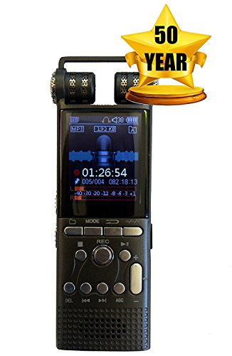 Cellphone and Landline Call Recording | Digital Voice Sound Recorder | For Smartphone and Celphone | Phone Audio Recorders | 50 Year Warranty