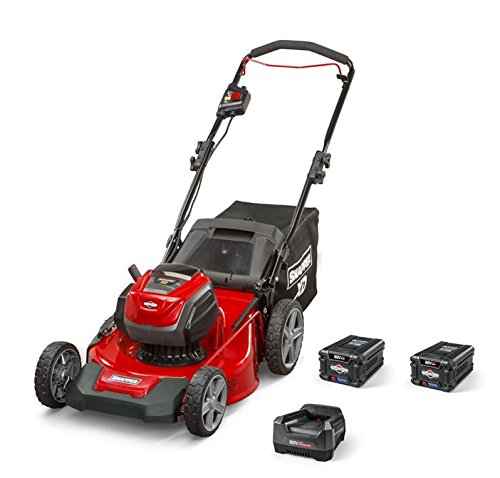 Snapper XD 82V MAX Electric Cordless 21-Inch Lawnmower Kit with (2) 2.0 Batteries & (1) Rapid Charger, 1687884, SXDWM82K