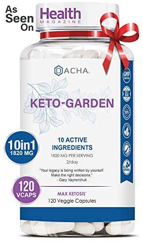 DACHA Ultra Fast Keto Boost - 1820 mg KetoGarden Pure Pills, 6X Advanced Rapid Ketosis, Manage Cravings Super Fast, Utilize Fat for Energy, Perfect Exogenous Ketones, Slim Weight Loss, 120 Capsules