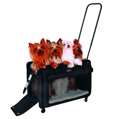 Tutto Large Pet on Wheels Stroller, 22-Inch, Black 1