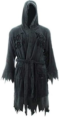The Walking Dead Mens Don't Open Dead Inside Fleece Sleepwear Long Robe Gray O/S