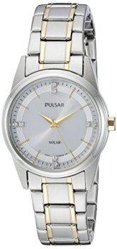Pulsar Women's PY5003 Solar Dress Analog Display Japanese Quartz Two Tone Watch