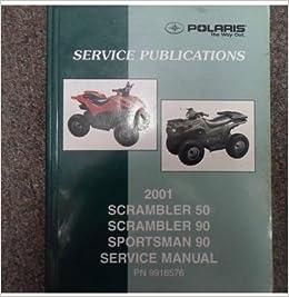 2001 Polaris Scrambler 90 Service Manual | Amatmotor co